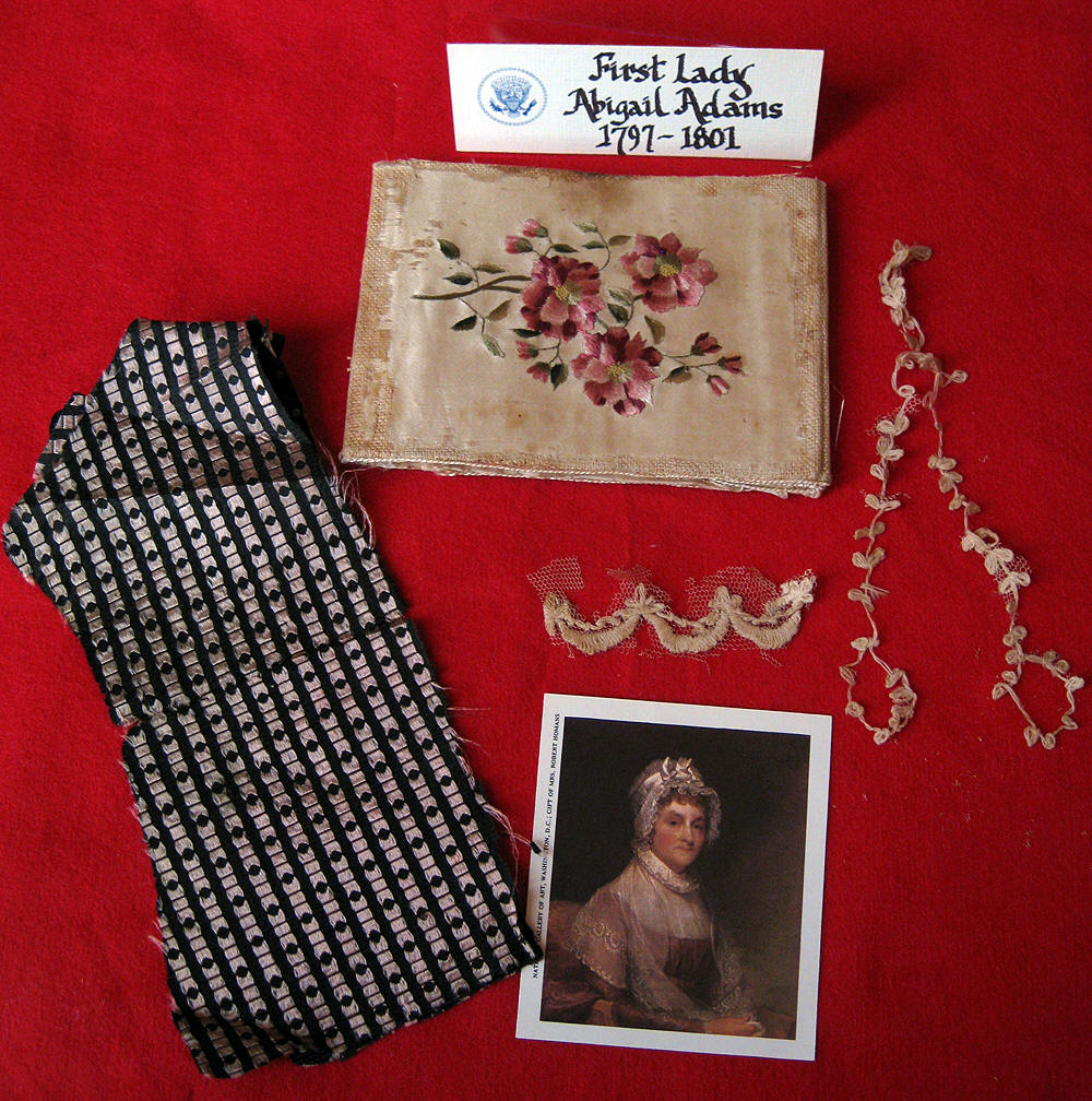 Collage of Items Owned by Abigail Adams