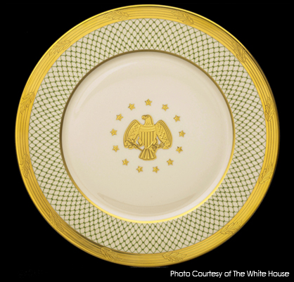 bush white house china,raleigh degeer amyx