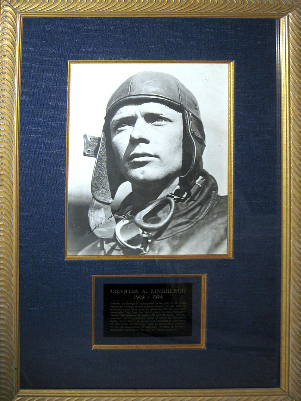 charles lindbergh framed photo 1