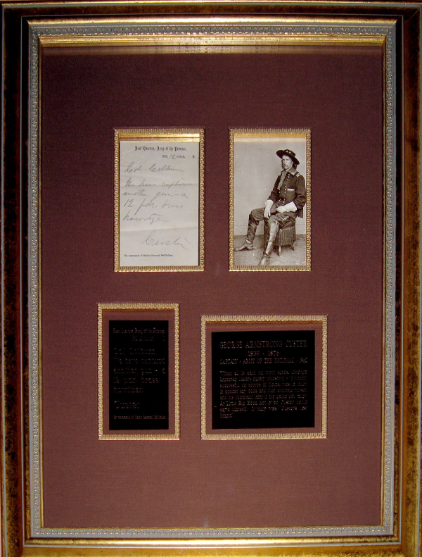 custer framed note 1862