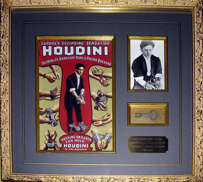 HARRY HOUDINI|HOUDINI KEY|MAGICIAN|THE RALEIGH DEGEER AMYX COLLECTION|THE AMERICAN HERITAGE COLLECTION|