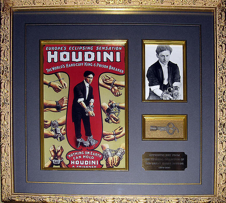 Harry Houdini framed poster