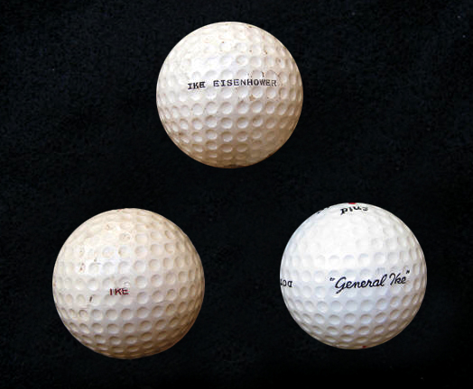 ike golf balls|eisenhower golf balls|presidential golf balls|presdeintial memorabilia|white house memorabilia|the raleigh degeer amyx collection|the amyx collection|the american heritage collection|