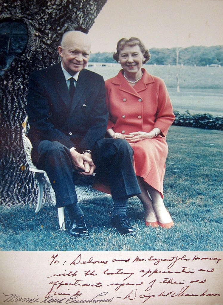 ike and mamie photo|ike and moaney|signed phot ike|the raleigh degeer amyx collection|the american heritage collection|