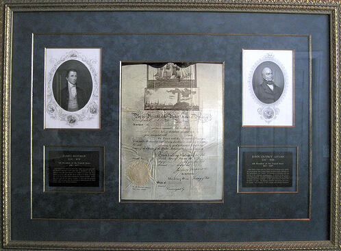 james monroe document granting ship passage 1