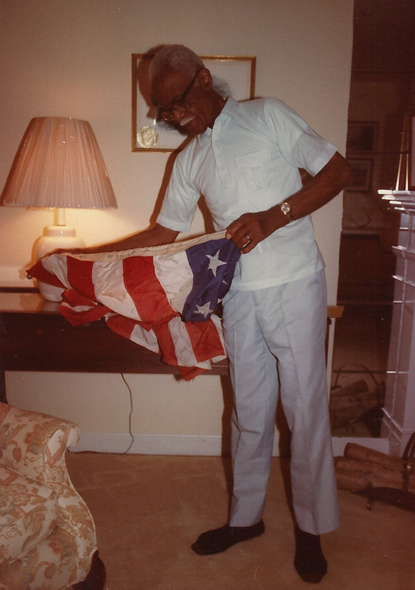 PRESTON BRUCE WITH NOVEMBER 22, 1963 OFFICAL WHITE HOUSE FLAG