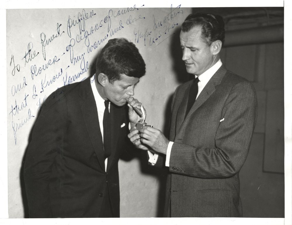 JOHN F. KENNEDY CIGAR|JFK CIGAR|JFFK AND SMATHERS|THE RALEIGH DEGEER AMYX COLLECTION|THE AMERICAN HERITAGE COLLECTION|