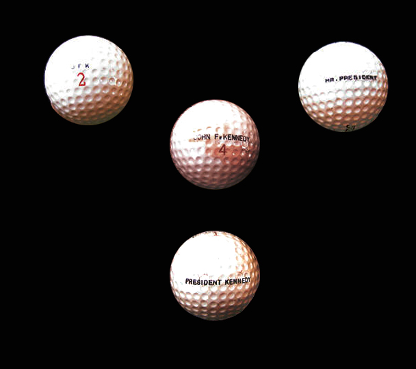 JOHN KENNEDY GOLF BALL|PRESIDENTS GOLF BALL|JFK GOLF|THE RALEIGH DGEER AMYX COLLECTION|THE AMERICAN HERITAGE COLLECTION|RALEIGH DEGEER AMYX|
