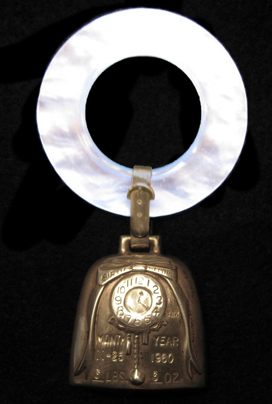 jfk jr. teething ring|jfk teething ring|john f. kennedy|white House Memorabilia|presidential memorabila|raleigh degeer amyx|the raleigh degeer amyx collection|the american heritage collection|