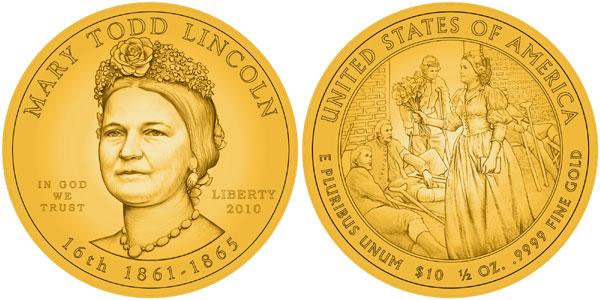 Mary Todd Lincoln Gold Coins