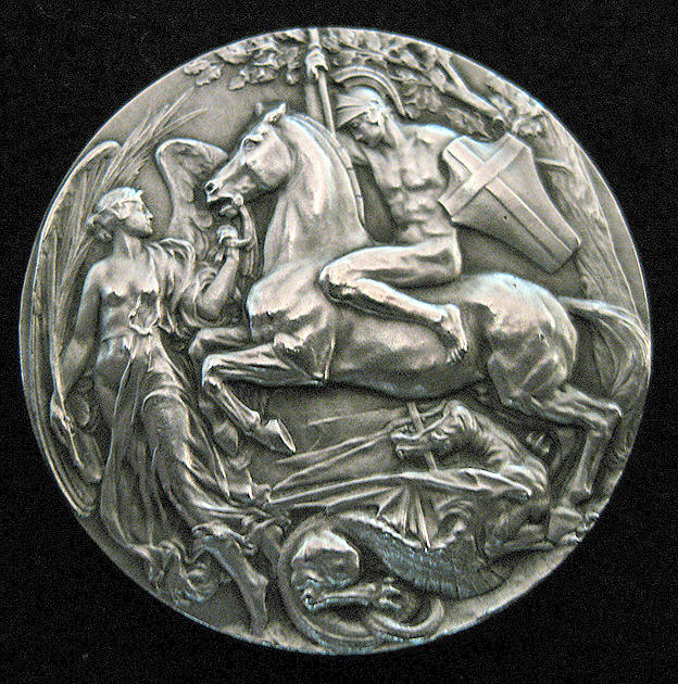the raleigh degeer amyx collection 1908 olympic winners medal olympic prize medal 