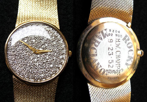 ROCKY MARCIANO|ROCKY MARCIANO WATCH|DIAMOND ENCRUSTED WATCH|THE RALEIGH DEGEER AMYX COLLECTIOON|THE AMERICAN HERITAGE COLLECTION|HEAVYWEIGHT CHAMPION MARCIANO|