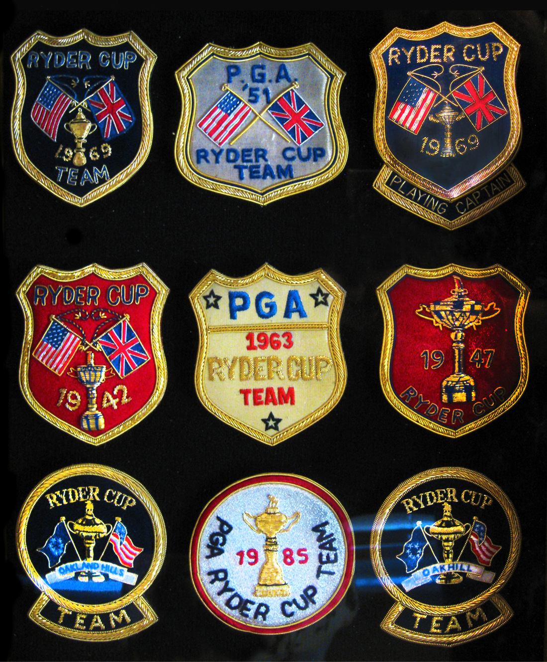 ryder cup crests|ryder cup blazer crests|the american heritage collection|the raleigh degeer amyx collection|ryder cup champions|