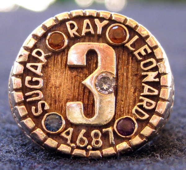 SUGAR RAY MIDDLEWEIGHT CHAMPIONSHIP RING