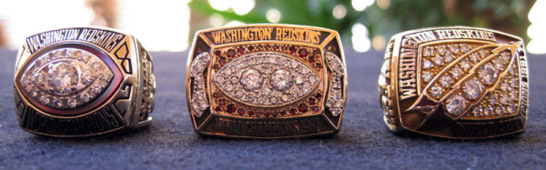 1982 -1987 - 1991 - WASHINGTON REDSKIN SUPER BOWL RINGS