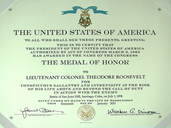 t.r. medal of honor,medal of honor,theodore roosevelt medal of honor,rough rider,the raleigh degeer amyx colllection,raleigh degeer amyx,the american heritage collection,