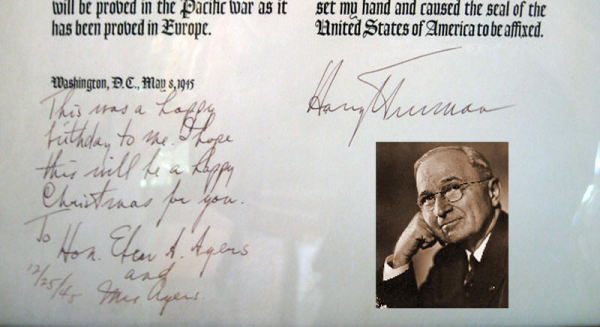 harry truman world war 11 proclamation