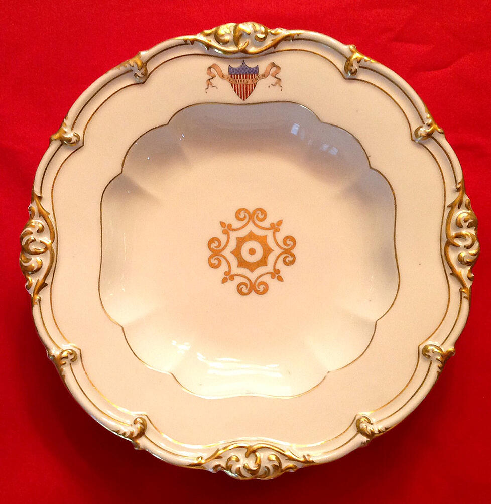 JAMES POLK WHITE HOUSE CHINA PLATE