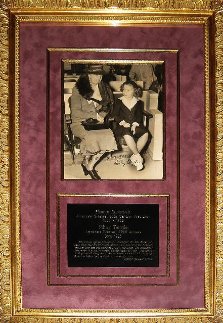 ELEANOR ROOSEVELT|SHIRLEY TEMPLE|SIGNED PHOTO SHIRLEY TEMPLE|THE RALEIGH DEGEER AMYX COLLECTION|