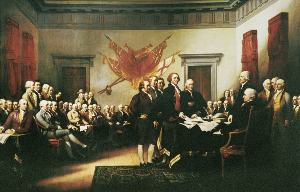 painting of the signing of the declaration of independence