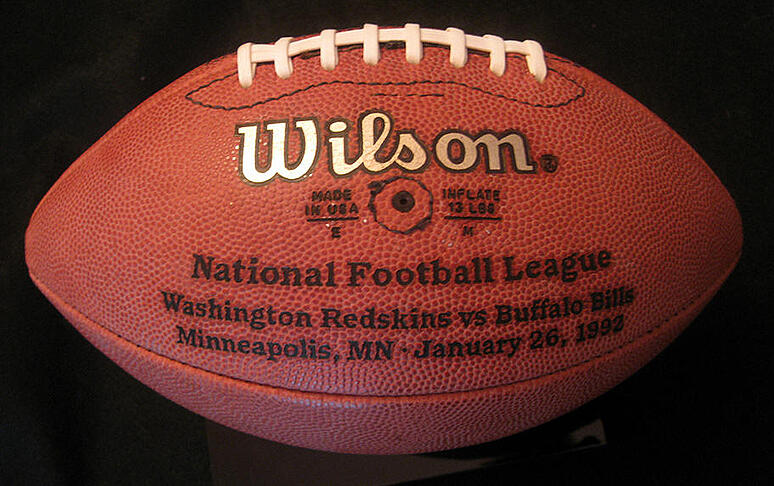joe gibbs signed football 1