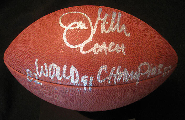 joe gibbs signed football 2