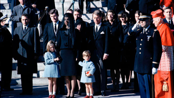 JFK's family at his funeral