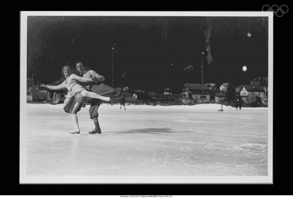 1924 winter olympic figure skaters ANDREE JOLY AND PIERRE BRUNET