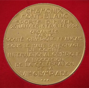 1924 winter olympic gold medal