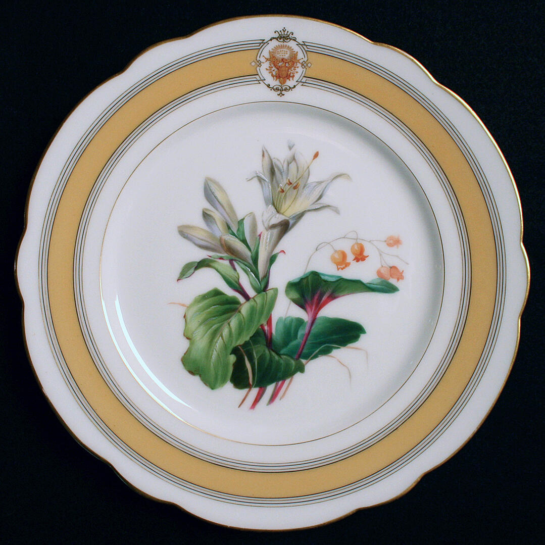 ulysses s grant white house china service dinner plate