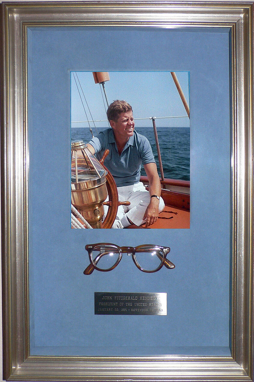 john f kennedy framed glasses 1