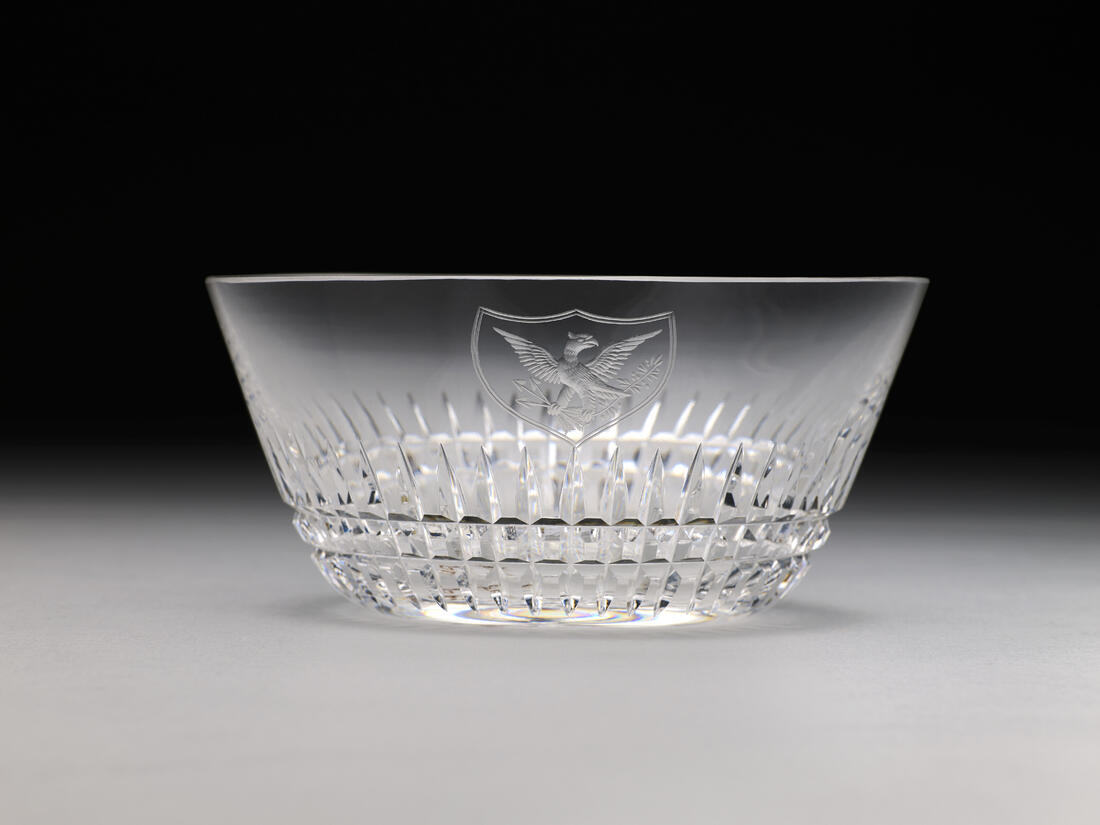 FDR Roosevelt Official White House China crystal bowl