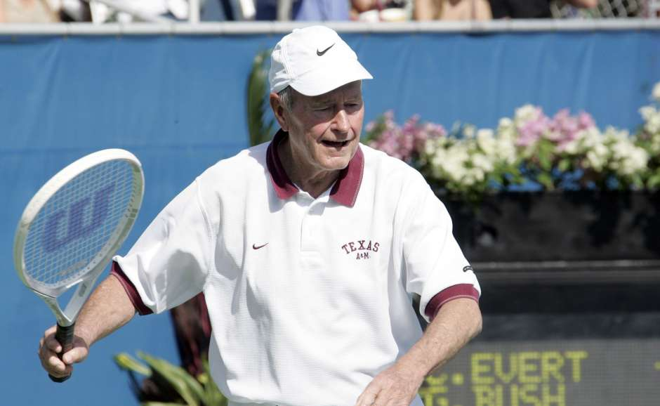 George HW bush tennis