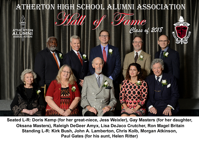 Atherton hall of fame 2018 raleigh degeer amyx white house china