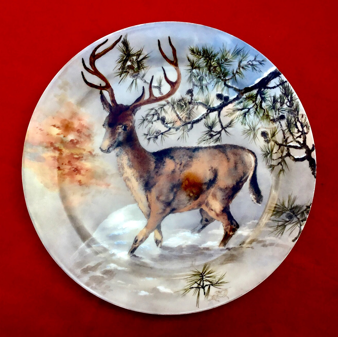 RUTHERFORD B HAYES WHITE HOUSE CHINA ELK PLATE