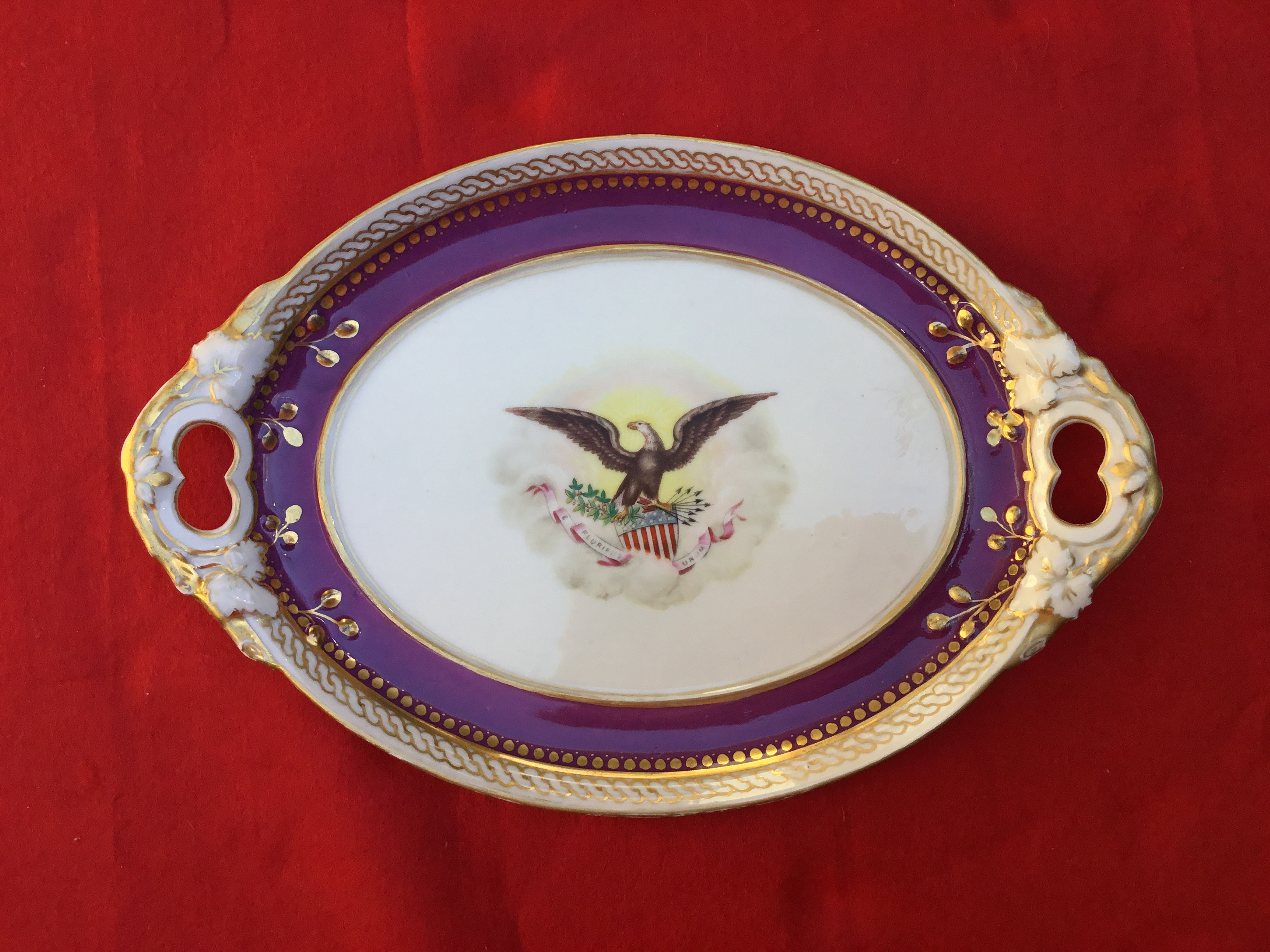 ABRAHAM LINCOLN OFFICIAL WHITE HOUSE CHINA PLATTER