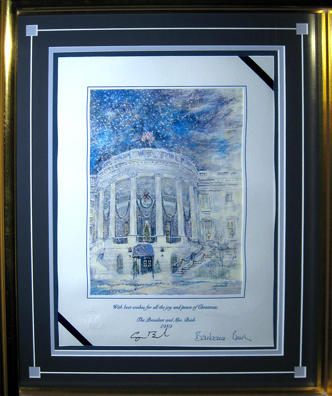 george-h-bush-framed-christmas-card-1
