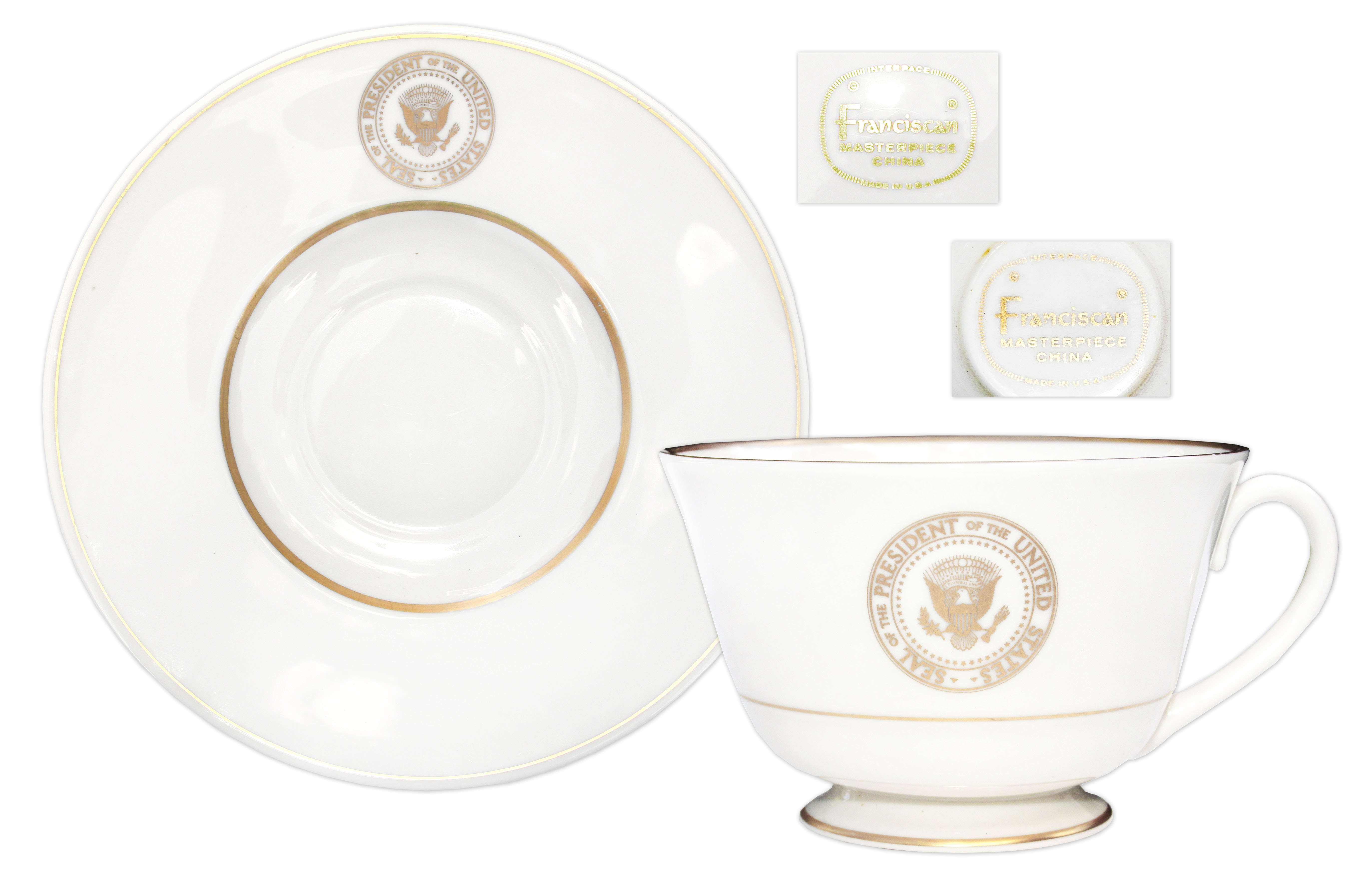 AIR FORCE ONE CHINA JFK JOHN F KENNEDY CUP SAUCER