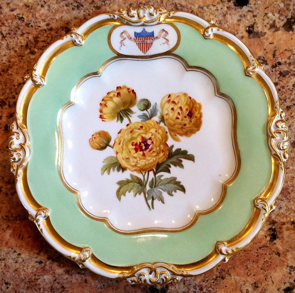 JAMES POLK WHITE HOUSE CHINA DESSERT PLATE