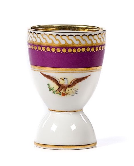 lincoln white house china egg cup
