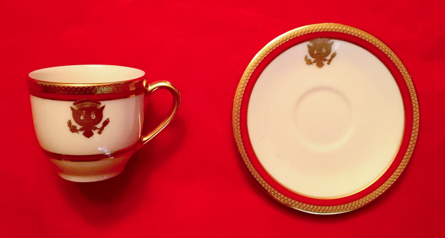 REAGAN WHITE HOUSE CHINA CUP SAUCER